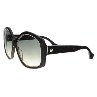 Balenciaga BA0049/S 52B Havana Irregular Square Sunglasses - 55-17-140