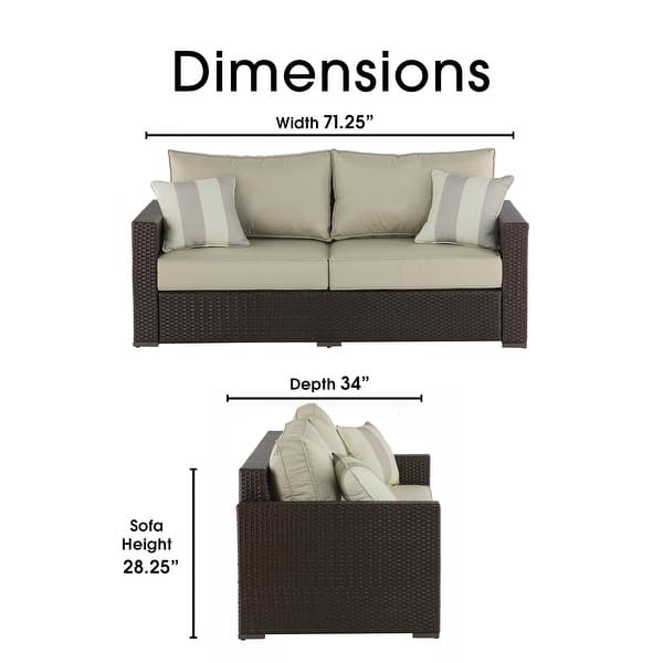 Hellex-3 Seater Patio Deep Lounge Sofa Cover//Loveseat Covers Waterproof and Heavy Duty-78W x 40D x 31H Inch-Durable Woven Fabric Outdoor Patio Furniture Cover for Sofa//Love seat//Bench Covering-Beige