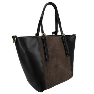 HS 5211 NRF LALA Leather Shopper/Tote Bag - Black/brown - 11.5-11-8