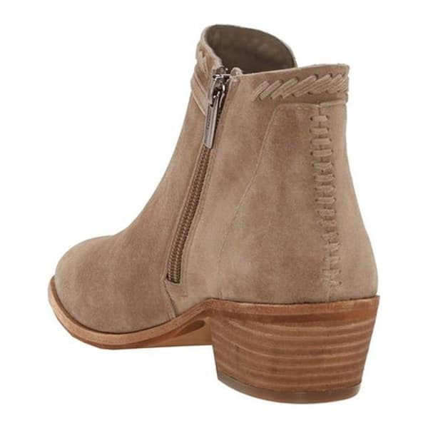 Vince Camuto Women/'s Pippsy Foxy Suede Taupe Suede Cutout Ankle Booties