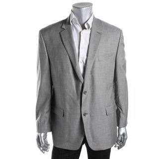 Shaquille O'Neal Mens Wool Notch Collar Two-Button Suit Jacket - 42R