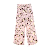 One Hart Pink Womens Size Large L Floral Printed Belted Pants