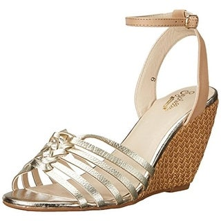 Seychelles Womens Top Notch Wedge Sandals Leather Woven