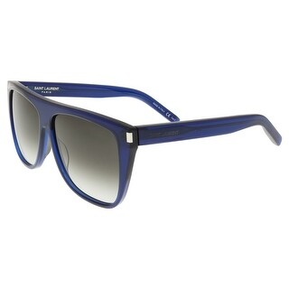 Saint Laurent SL 1-005 Dark Navy Flat Top Rectangle Sunglasses - 59-13-140