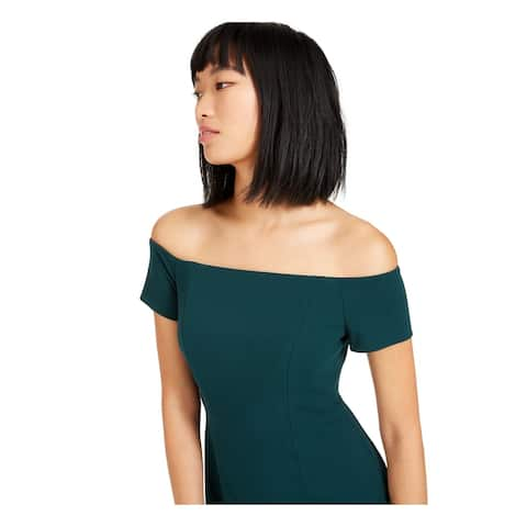 CALVIN KLEIN Green Short Sleeve Midi Dress 4
