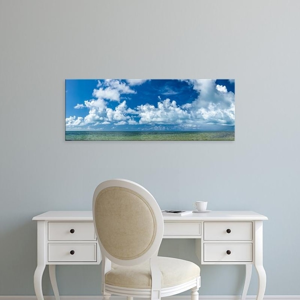 Easy Art Prints Panoramic Images's 'Atlantic Ocean at Smathers Beach in Key West, Florida, USA' Premium Canvas Art