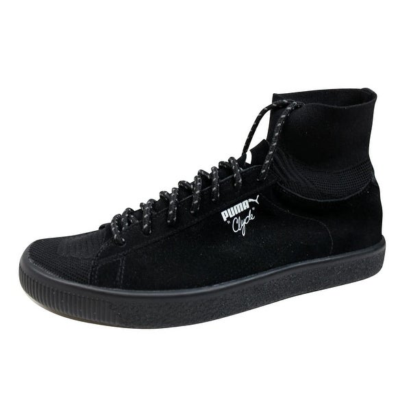 ed03d26421f Shop Puma Men s Clyde X BKRW Puma Black Puma White 363670 01 - Free ...
