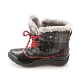 Anne Klein Womens 25015813-2UI Round Toe Ankle Rainboots