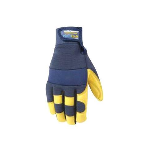 Wells Lamont 3207XL HydraHyde Men's Work Gloves, Blue/Yellow, XL