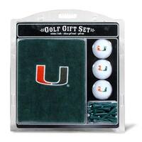 Team Golf 47120 Miami Hurricanes Embroidered Towel Gift Set