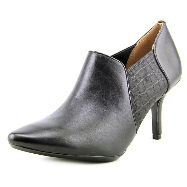 Calvin Klein Janel Pointed Toe Leather Bootie
