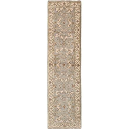 ECARPETGALLERY Hand-knotted Royal Oushak Light Grey Wool Rug - 2'7 x 10'0