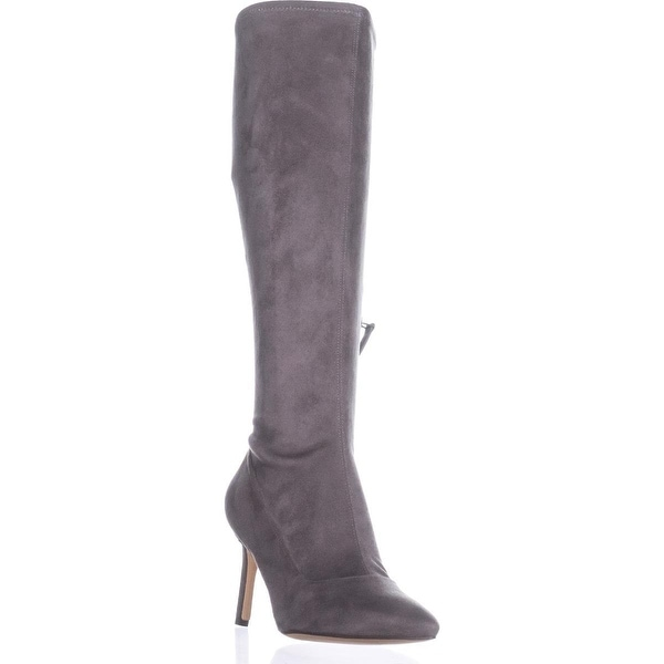 Nine West Knee High Stiletto Boots, Dark Grey