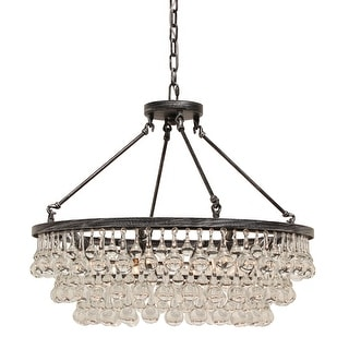 Link to Celeste Glass Drop Crystal Chandelier, Small Similar Items in As Is