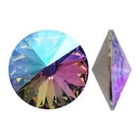 Swarovski Elements Crystal, 1122 Rivoli Fancy Stones 14mm, 2 Pieces, Crystal Paradise Shine Foiled