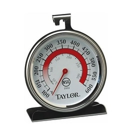 "Taylor 5932 Classic Oven Thermometer, Stainless Steel, 3-1/4"" x 3-3/4"" Dial"