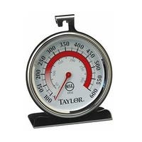 """Taylor 5932 Classic Oven Thermometer, Stainless Steel, 3-1/4"""" x 3-3/4"""" Dial"""