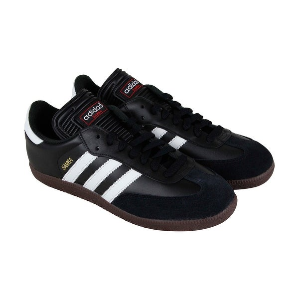 15bf02072 Adidas Samba Classic Mens Black Suede & Leather Lace Up Sneakers Shoes