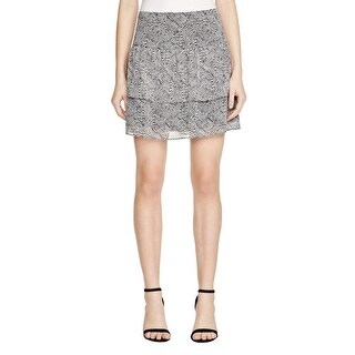 Sunco Womens Fanchon Tiered Skirt Chiffon Printed