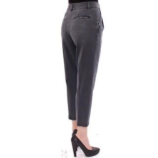 Dolce & Gabbana Dolce & Gabbana Gray Cotton Cropped Jeans Pants - it40-s