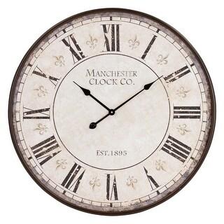 "Aspire Home Accents 5858  Valerie 30"" Diameter Metal Analog Clock - Brown"