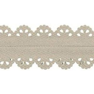 "Beige - Designer Lace Plastic Zipper 23.62"""