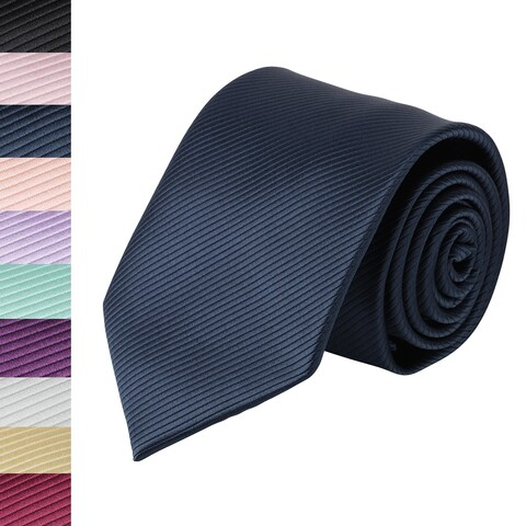 Jacob Alexander Men's Tone on Tone Corded Regular Neck Tie - One size