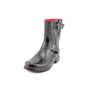Sperry Top Sider Falcon Women Round Toe Synthetic Black Rain Boot