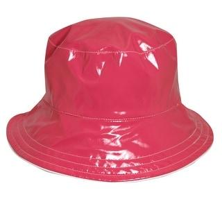 Dorfman Pacific Women's Reversible Solid/Polka Dot Bucket Rain Hat - One size