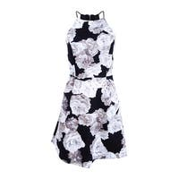 BCBGeneration Women's Printed Fit & Flare Dress - Black/White