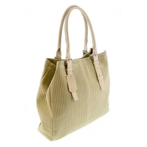 HS 2078 AV ASPA Ivory Leather Tote/Shopper Bags