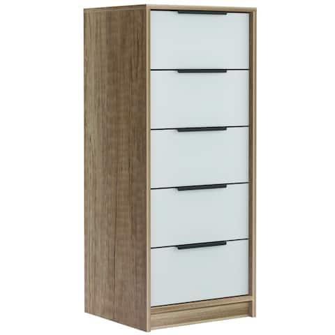 "TUHOME Kaia 42"" free standing 5 drawer dresser"