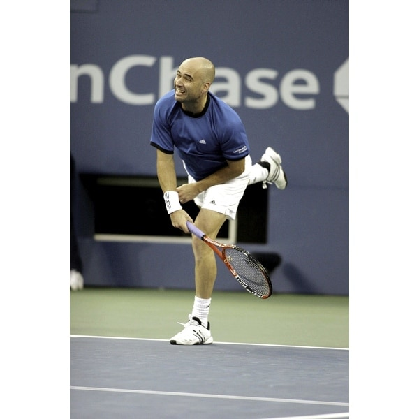 dccab7bbad03 Shop Andre Agassi at the US Open Photo Print - Free Shipping On Orders Over   45 - Overstock.com - 25388306