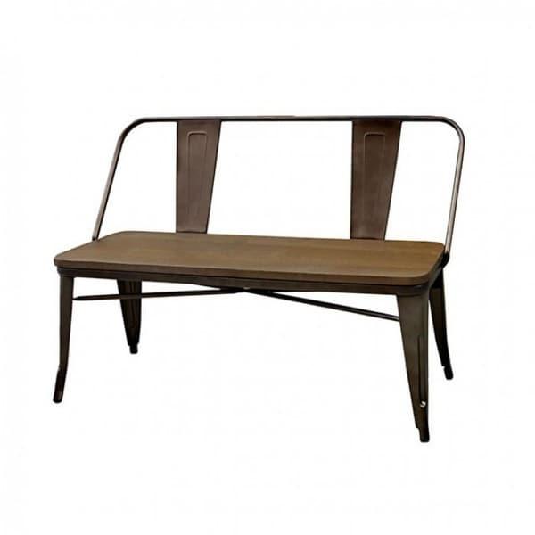 Seating Bench, natural elm Brown