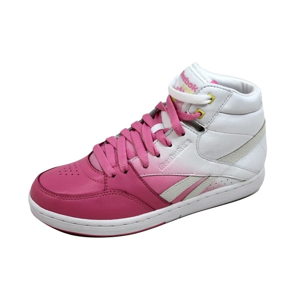 Reebok Women's Courtee Mid Pink/White-Yellow-Neon Blue 32-783700