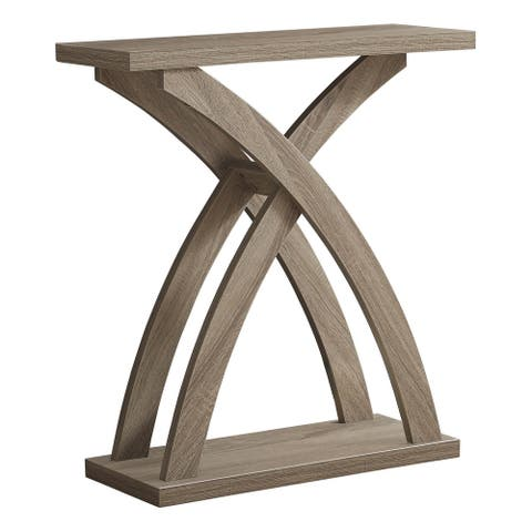 """Offex Contemporary Accent Table for Entrywary, Living Room - 32""""L Dark Taupe Hall Console"""