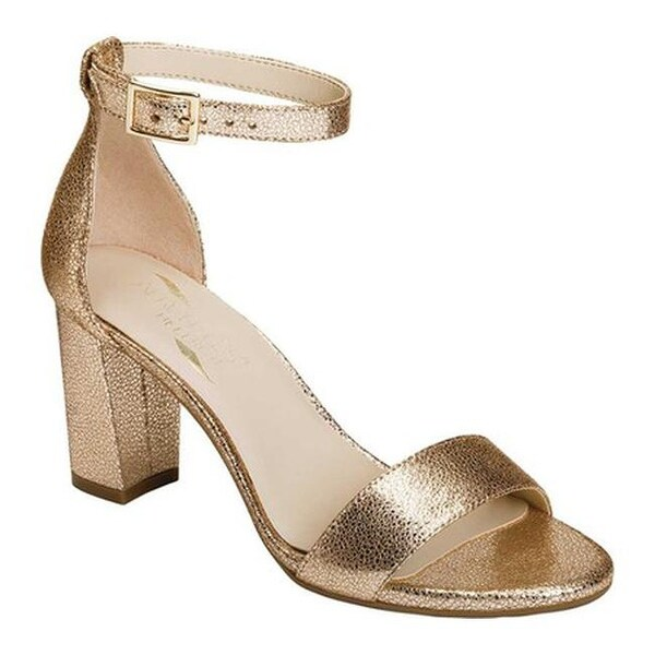 064549e58e4 Aerosoles Women  x27 s Bird Of Paradise Ankle Strap Sandal Gold Leather