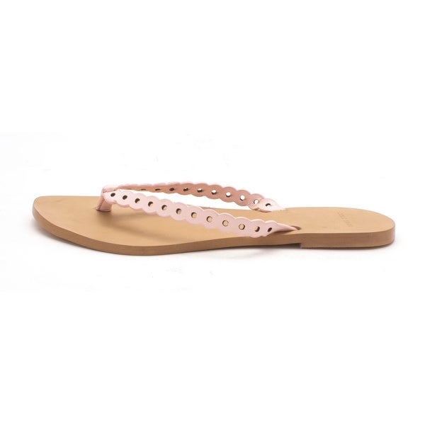 Cole Haan Womens Punched Flip Flop Open Toe Casual, Soft Gold, Size 6.0