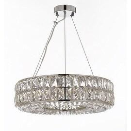"Crystal Spiridon Ring Chandelier Chandeliers Modern / Contemporary Lighting Pendant 20"" Wide"