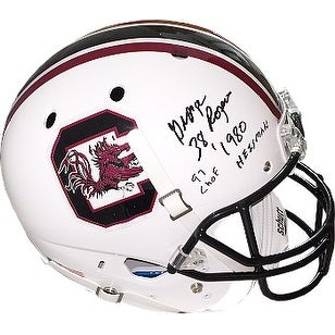George Rogers signed South Carolina Gamecocks Schutt Full Size Replica Helmet w dual 38 1980 Heisma