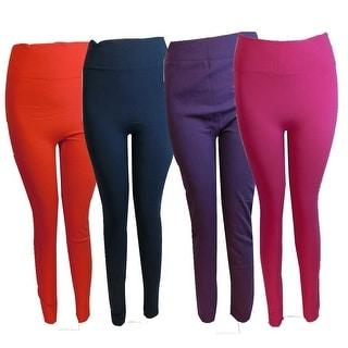 Women 6 Pack High-Waisted Fleece LIned Leggings