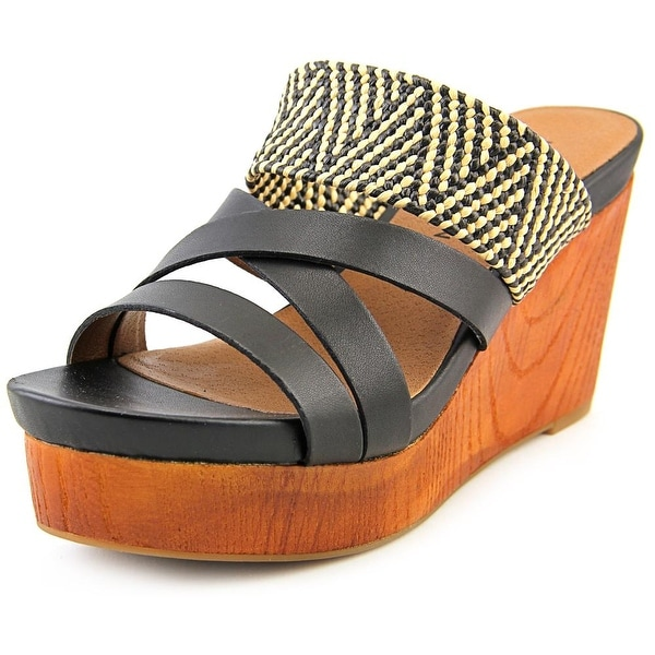 Lucky Brand Nyloh Women Black/Natural/Black Sandals