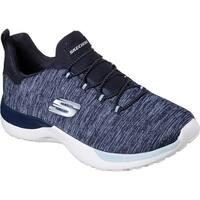 Skechers Women's Dynamight Break-Through Bungee Lace Sneaker Navy/Light Blue