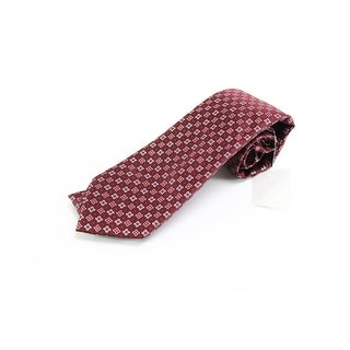 Enro NEW Red Burgundy Floral Neat Men's Neck Tie Silk Accessory