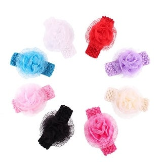 ModaStyle 8 Pieces Baby's Headbands Girl's Headband Head Wear Flower