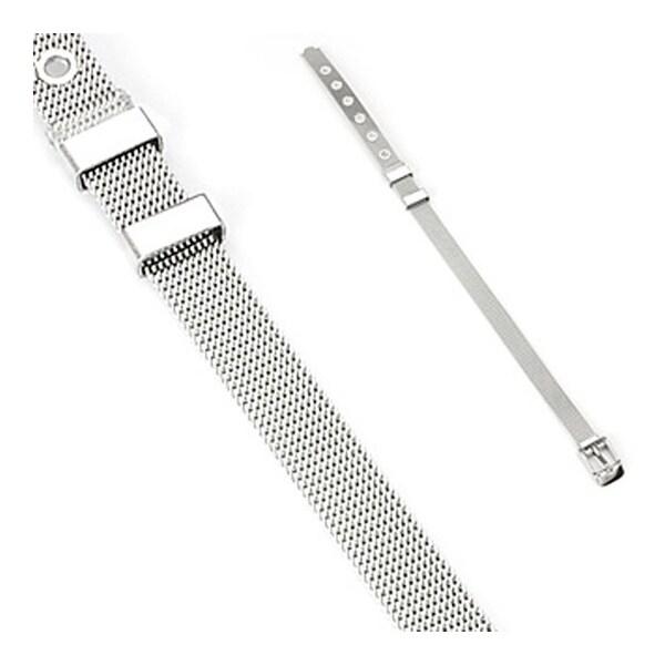 Stainless Steel Bracelet in Belt Design (8 mm) - 8.5 in