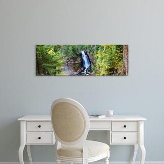Easy Art Prints Panoramic Image 'Waterfall, Miners Falls, Rocks National Lakeshore, Michigan' Canvas Art