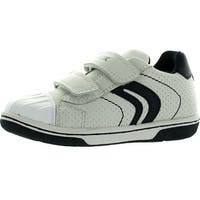 Geox Boys Flick Summer Fashion Casual Sneakers Shoes - White/Navy