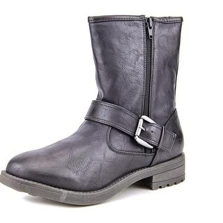 Mia John Round Toe Synthetic Mid Calf Boot