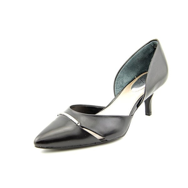 Alfani Corrin Pointed Toe Leather Heels